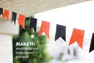Weatherproof halloween garland