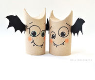 DIY Toilet Roll Bats