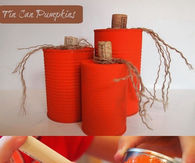 DIY Tin Pumpkin Cans