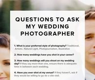Questions to ask your wedding photographer pictures photos and questions to ask your wedding photographer pictures photos and images for facebook tumblr pinterest and twitter junglespirit Images