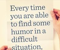 Find Humor in a Difficult Situation