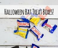 DIY Halloween Bat Treat Boxes