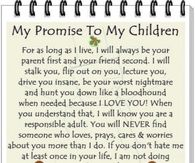 my promise to my children
