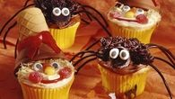 Halloween Spider and Scarecrow Cupcakes