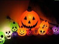 Colorful pumpkin lights