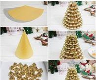 DIY Gold Hershey Kisses Tree