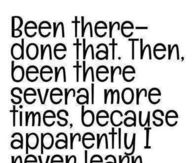 I never learn