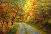 Gorgeous Fall Oil Painting
