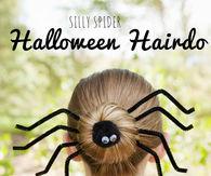 Silly spider halloween hairdo