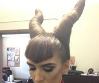 Maleficent hairdo