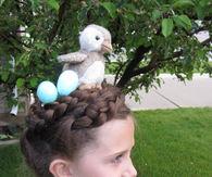 Birds nest hairdo
