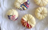 Learn to Make Nail Polish Marbled Pumpkins