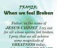 Prayer when we feel broken