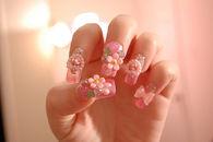 Floral 3D Nails