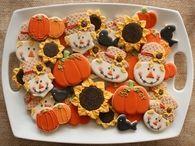 Autumn Themed Sugar Cookies