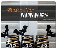 DIY Mason Jar Mummies