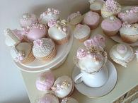 Vintage Inspired Pink Cupcakes