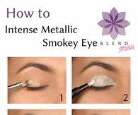 DIY Intense Metallic Smokey Eye