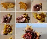 DIY Leaf Flower