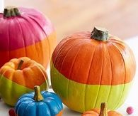 Cute Brightly Painted Pumpkins