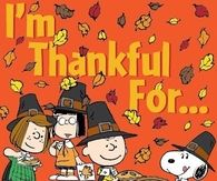 I'm Thankful for...Charlie Brown