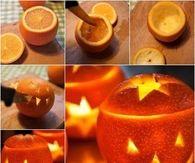 Orange Jack O Lantern Candles