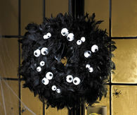 Spooky eyes wreath