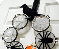 Laced Spider Web Wreath
