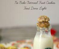 No bake oatmeal fruit cookies