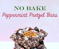 Peppermint pretzel bars