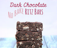 Dark chocolate no bake ritz bars