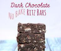 Dark chocolate no bake ritz bars