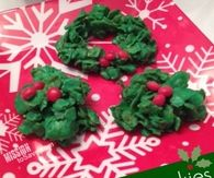 Easy holly cookies