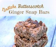 Butterscotch ginger snap bars