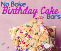 Birthday cake bars
