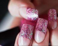 Glitter manicures