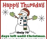 70 Days Left Till Christmas