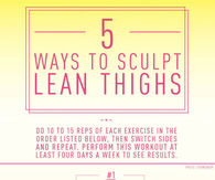 5 Ways To Sculpt Lean Theighs