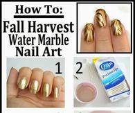 Fall Marble Nail Art