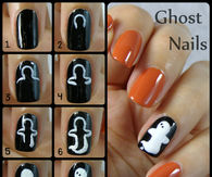 DIY Ghost Nails