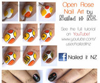 Autumn Rose Nail Art