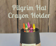 Pilgrim hat crayon holder
