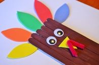 Thanksgiving turkey craft sticks