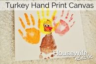 Turkey hand print canvas