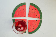 DIY Sliced Watermelon Coasters