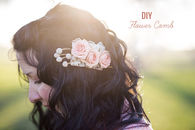 DIY Flower Comb
