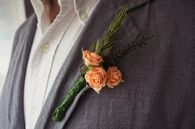 DIY Wedding Button Holes