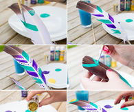 DIY Festival Feather Place Setting