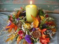 Pretty Leaf & Dried Flower Candle Ring