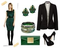 Dress Green Dress & Coordinating Accessories